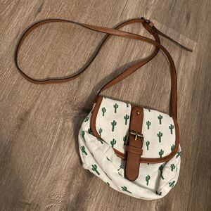 Gently used cactus crossbody bag